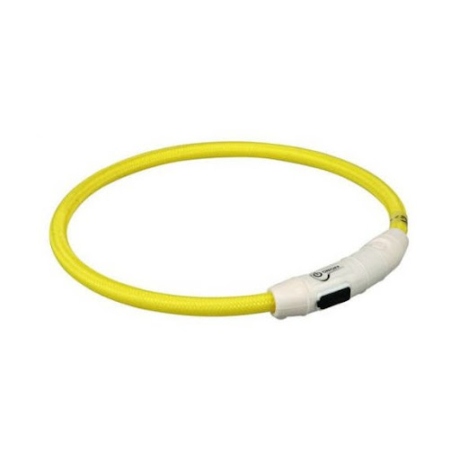 Trixie Safer Life világítós karika nyakörv M-L – sárga