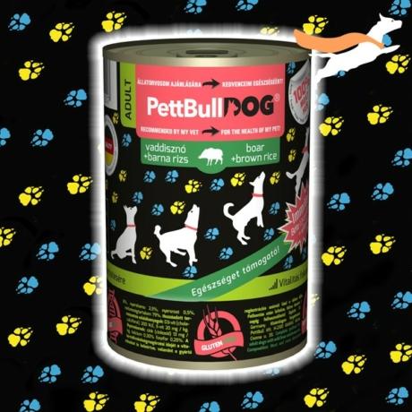 PetbullDog Adult - vaddisznó barna rizzsel 800g