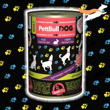 PetbullDog Adult - nyúl barna rizzsel 800g