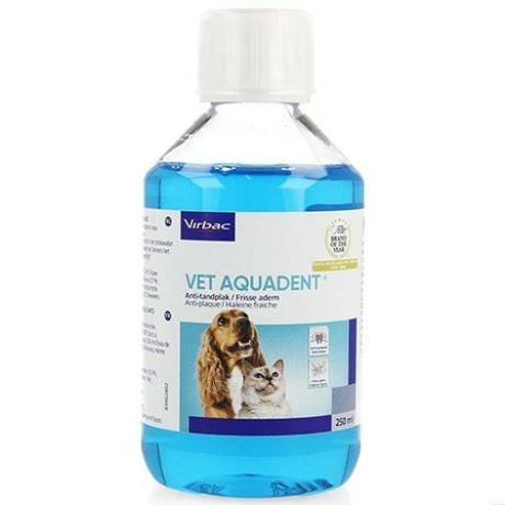 Vet Aquadent ízesített szájhigiéniai oldat kutyáknak macskáknak 250 ml