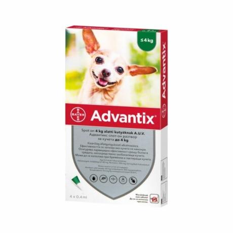 Advantix spot-on 4kg alatti kutyáknak 1pipetta
