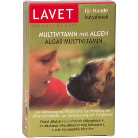 Lavet Algás Multivitamin tabletta kutyáknak 50db