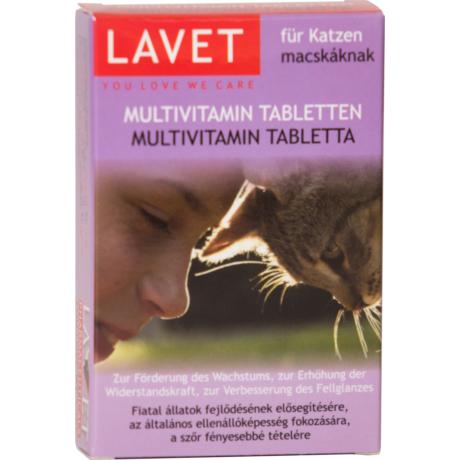 Lavet Multivitamin tabletta macskáknak